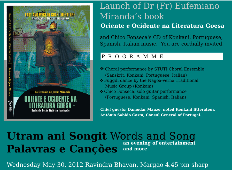 Literatura Goesa, launch on May 30, 2012